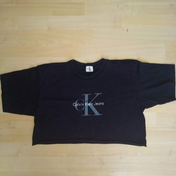 f6c37ed7f Vintage Tops | Calvin Klein Crop Top | Poshmark